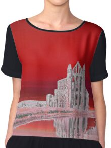 Whitby Abbey (Red) Chiffon Top