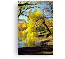 Autumn in Central Park, New York City Canvas Print