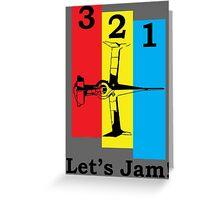 Cowboy Bebop 3, 2, 1, Let's Jam! Greeting Card