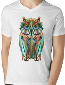 OWL LOW POLY Mens V-Neck T-Shirt