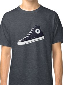 All Star Inspired Hi Top Retro Sneaker in Navy Blue Classic T-Shirt