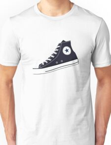 All Star Inspired Hi Top Retro Sneaker in Navy Blue Unisex T-Shirt