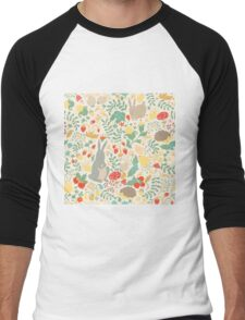 forest seamless pattern Men's Baseball ¾ T-Shirt