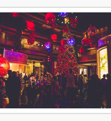 Christmas At Crown Atrium, Melbourne Sticker