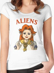 Romani Aliens Women's Fitted Scoop T-Shirt