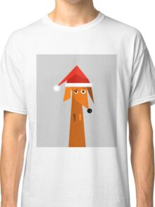 Dachshund Ready For Christmas  Classic T-Shirt