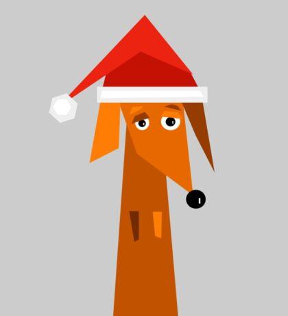 Dachshund Ready For Christmas  Sticker