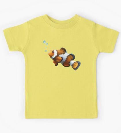 LowPoly Clownfish Kids Tee