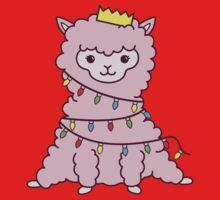 Festive Llama  One Piece - Short Sleeve