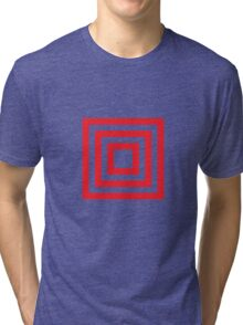 3 stripes box Tri-blend T-Shirt
