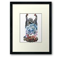 Happy Buddha | Thor's Helmet Nebula [V2] Framed Print