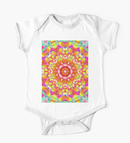 kaleidoscope Floral Abstract  One Piece - Short Sleeve
