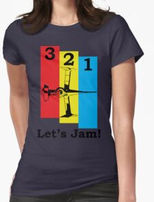 Cowboy Bebop 3, 2, 1, Let's Jam! Womens Fitted T-Shirt