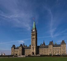 Center Block of the Canadian government - Ottawa, Ontario by Josef Pittner