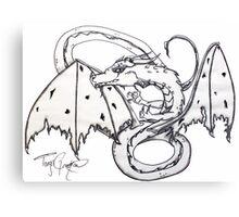 Charcoal Dragon Canvas Print