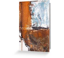 Blue Patch on Rust Greeting Card