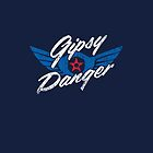 Gipsy Danger Distressed Logo in White by TheBatchild