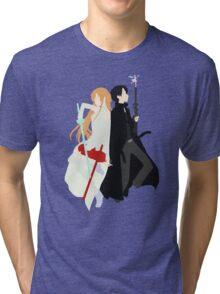 Asuna, Kirito, & Yui Anime Manga Shirt Tri-blend T-Shirt