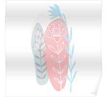 flowers abstract design Poster