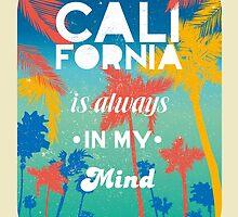 Beach Summer Theme California retro style by vinainna