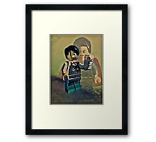You need something special to be a barista here! Framed Print