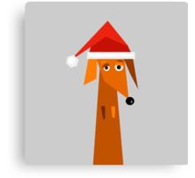Dachshund Ready For Christmas  Canvas Print