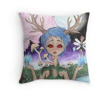 Forest Goddess Throw Pillow