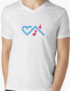 I Love Chicago House Music Mens V-Neck T-Shirt
