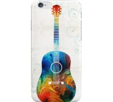 Colorful Guitar Art by Sharon Cummings  iPhone Case/Skin