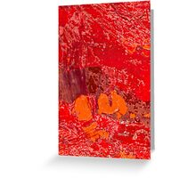 Red Tin Landscape Greeting Card