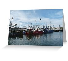Fishing Boats, New Bedford, MA Greeting Card