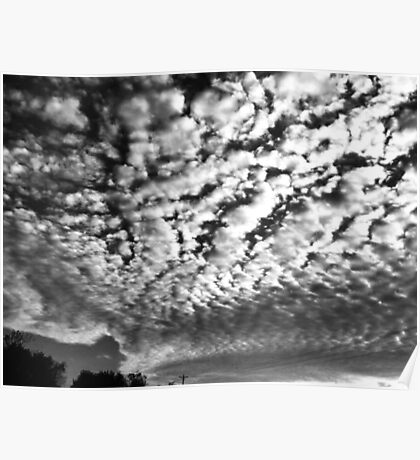 Black and White Cloudscape Nature Photography  Poster