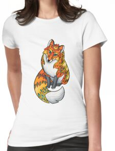FOX COLOR Womens Fitted T-Shirt
