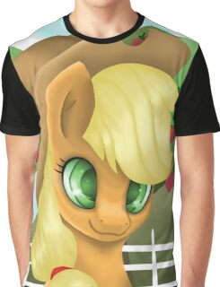 Applejack Portrait Graphic T-Shirt