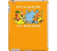 Dr. Seuss Party - White iPad Case/Skin