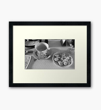 Afternoon Tea - Black and White Photography  Framed Print