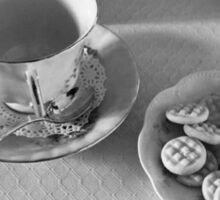 Afternoon Tea - Black and White Photography  Sticker