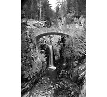 Bridge Over Falls Photographic Print
