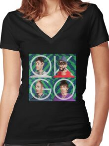 Ok go 1 Women's Fitted V-Neck T-Shirt