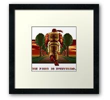 RYU Street Fighter II: The Fight is everything. Framed Print