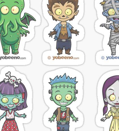 """Little Monster Mini's"" Sticker Sheet 1of2 Sticker"