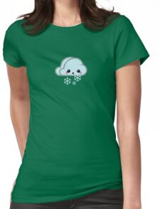 Mood Swing  -  Snow Cloud Womens Fitted T-Shirt