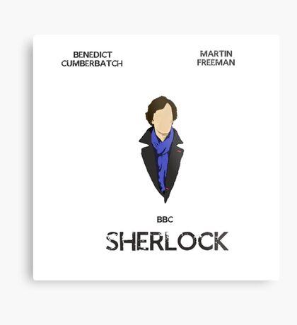 Sherlock Minimalist 1 Metal Print