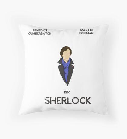 Sherlock Minimalist 1 Throw Pillow