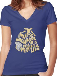 Provincial Life Women's Fitted V-Neck T-Shirt