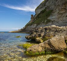 Deserted Rocky Seaside View by SuzannemorriS