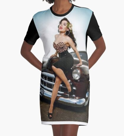 Latina pin up girl Graphic T-Shirt Dress