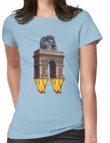 monkey - spaceship Womens Fitted T-Shirt