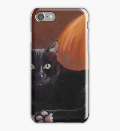 Sneak Peek Black Cat & Pumpkin iPhone Case/Skin