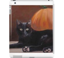Sneak Peek Black Cat & Pumpkin iPad Case/Skin